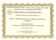 WSPÓŁZAWODNICTWO - Klasa wolna od dymu 2007-2008